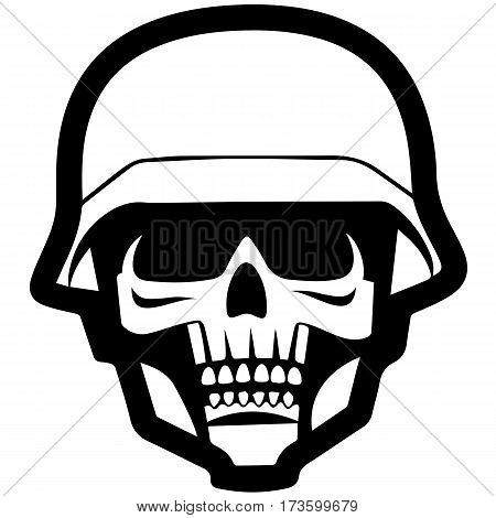 Collection Of Hand Drawn Skulls In Monochrome. Vector Skulls Illustrations. Eps 10 vector illustration