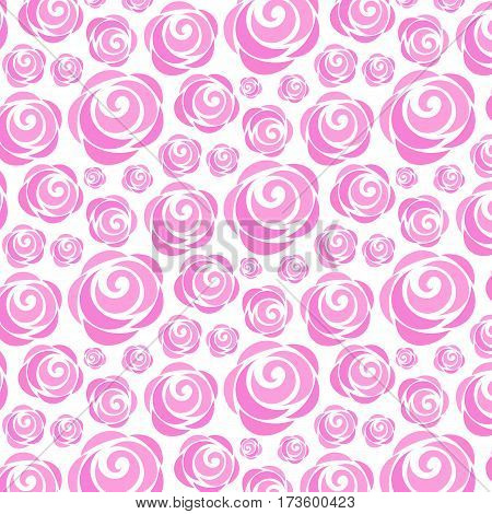 seamless pattern of roses on a white background
