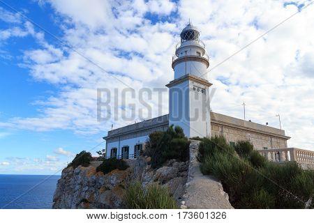 Cap De Formentor Lighthouse And Mediterranean Sea, Majorca, Spain