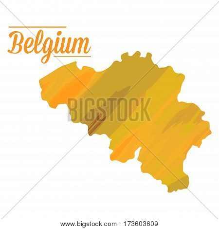 Isolated Belgian map on a white background, Vector illustration