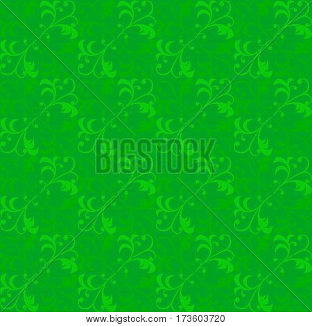 vine bud leaf green graphic abstract pattern vector