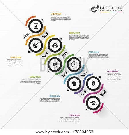 Abstract timeline infographic template. Business concept. Vector illustration