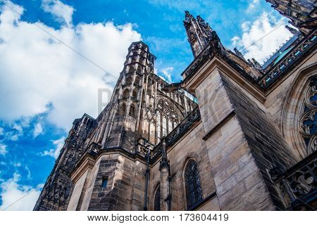 Saint Vitus Cathedral in Prague, Czech Republic