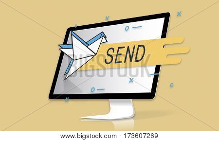 Sending Mailing Communication Text Typing