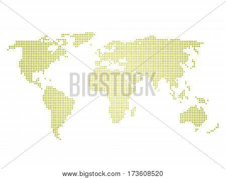 Green halftone world vector photo free trial bigstock green halftone world map of small dots in linear arrangement simple flat vector illustration on gumiabroncs Image collections