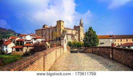Bormida monastery and castle in regione Asti in Piemonte, Italy