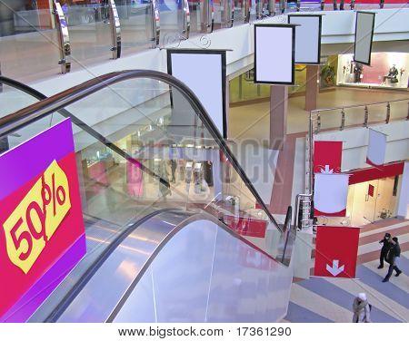 Centro comercial de la tienda