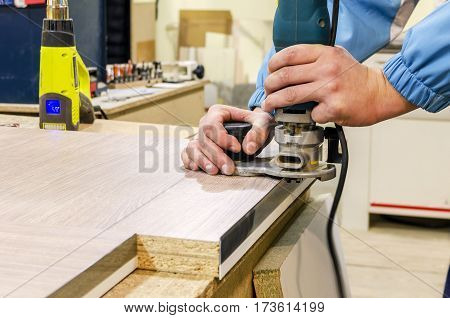 edging furniture hinges hand router, furniture production
