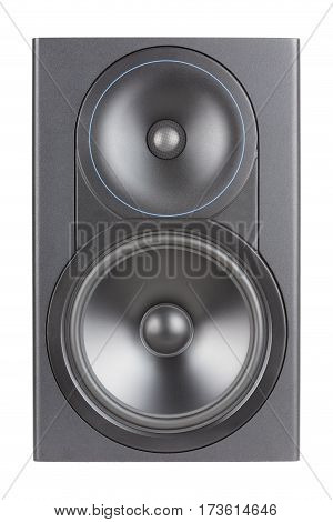 Professional studio speaker on a white background