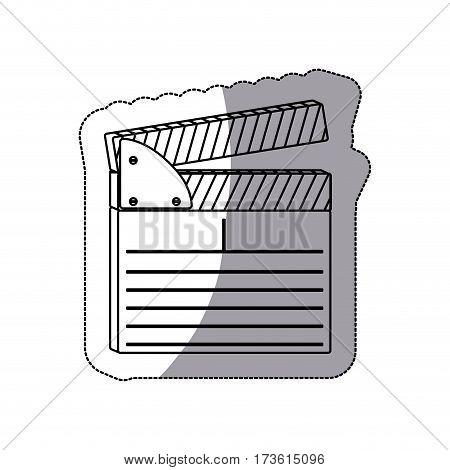 contour clapper board icon, vector illustraction design image