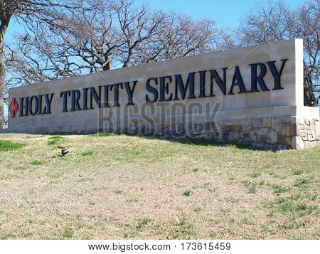 Dallas,18 February,2017. A new enterance to the Carpenter Freeway at both the University of Dallas and Holy Trinity Seminary is now open. The expansion along the Carpenter Expressway to Las Colinas is part of the former Carpenter Ranch, Las Colinas.