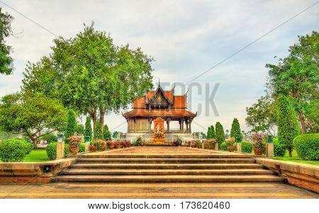 Pavilion in Santi Chai Prakan Park - Bangkok, Thailand