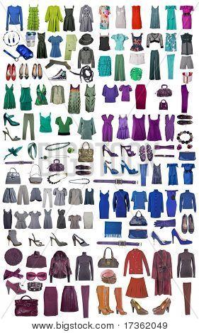 Коллекция иконок различных одежды и аксессуаров для Интернета и баннеры