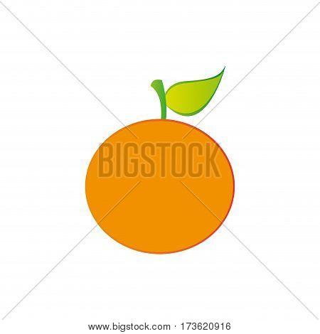 orange fruit icon stock, vector illustration design