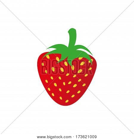 strawberry fruit icon stock, vector illustration design