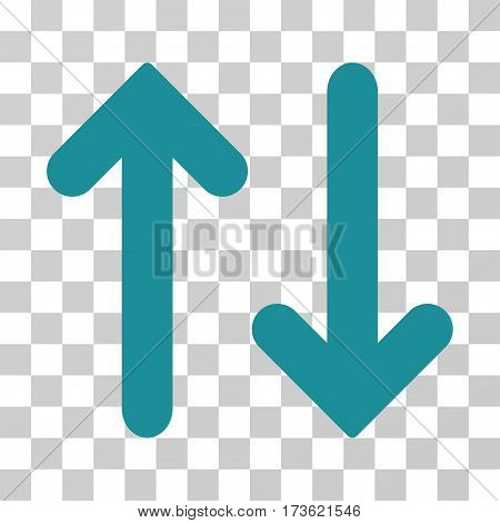 Flip Vertical vector pictograph. Illustration style is flat iconic soft blue symbol on a transparent background.