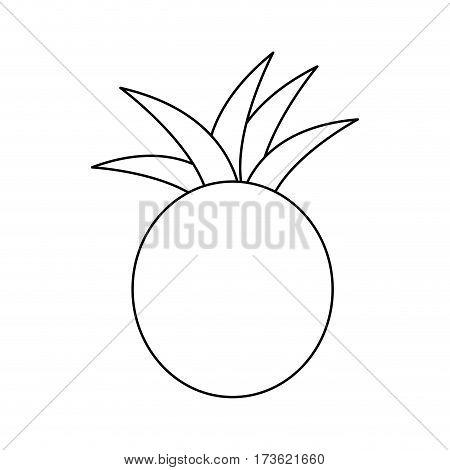 figure pineapple fruit icon stock, vector illustration design