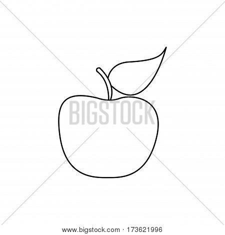 figure apple fruit icon stock, vector illustration desing
