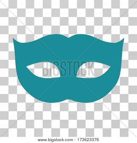 Privacy Mask vector pictogram. Illustration style is flat iconic soft blue symbol on a transparent background.