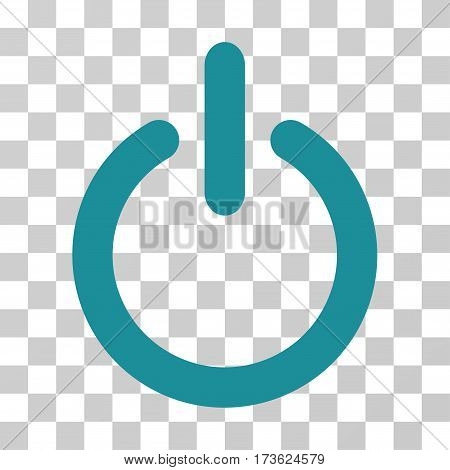 Turn Off vector pictogram. Illustration style is flat iconic soft blue symbol on a transparent background.
