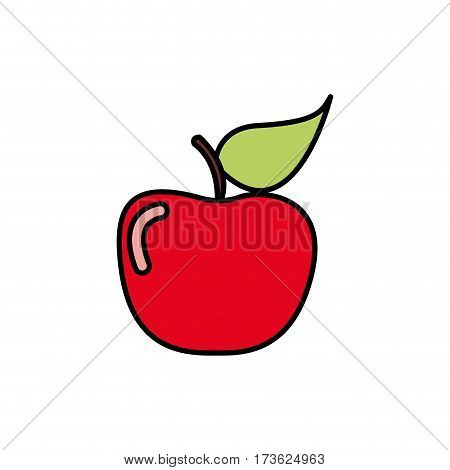 colorful apple fruit icon stock, vector illustration desing