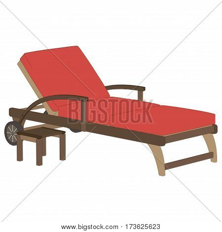Recliner red vector isolated on white illustration
