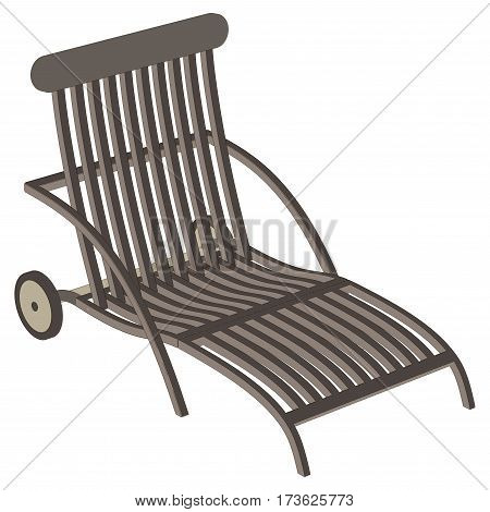Recliner metal vector isolated on white illustration