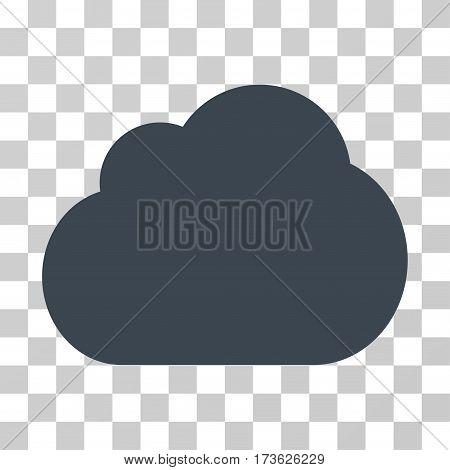 Cloud vector icon. Illustration style is flat iconic smooth blue symbol on a transparent background.