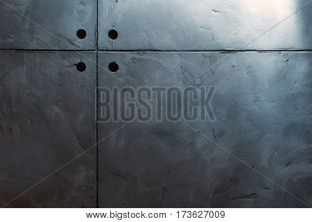 Grungy grey and smooth bare concrete wall.