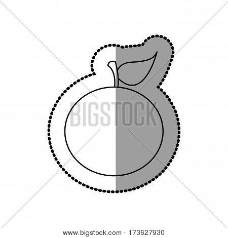 figure colorful orange fruit icon stock, vector illustration design