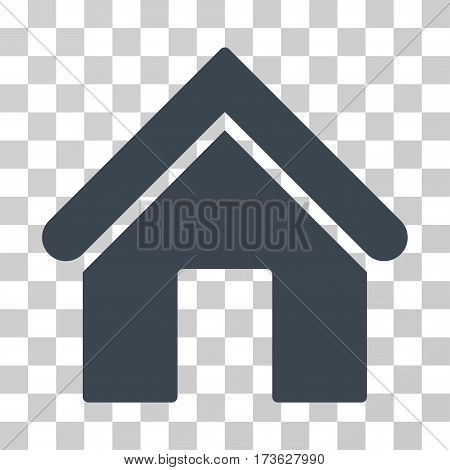 Home vector icon. Illustration style is flat iconic smooth blue symbol on a transparent background.