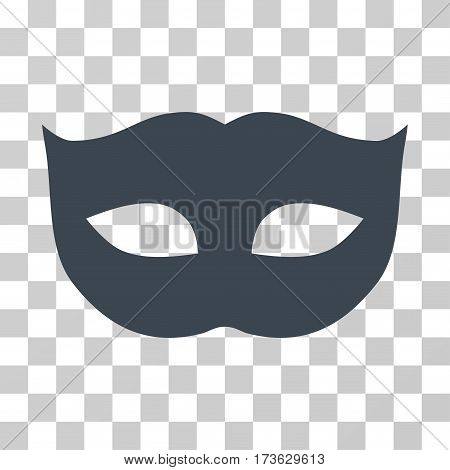 Privacy Mask vector icon. Illustration style is flat iconic smooth blue symbol on a transparent background.