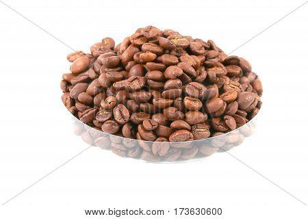 lovely fresh roasted coffee beans for making fragrant drink