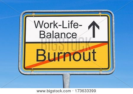 Work-Life-Balance - concept traffic sign with text