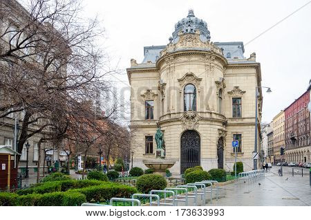 Metropolitan Ervin Szabo Library In Budapest, Hungary.