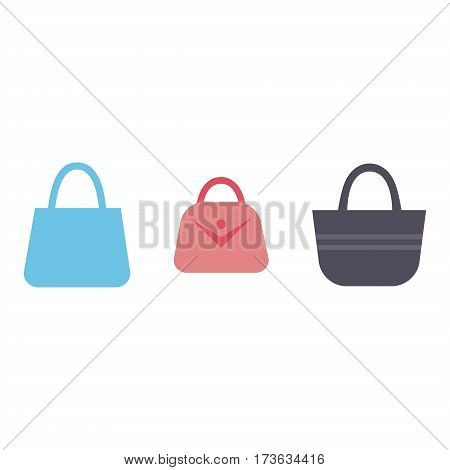 Luxury leather fashion female hand bag glamour fashionable design and style female shop bright single handle accessory vector illustration. Personal fancy element sale sign.