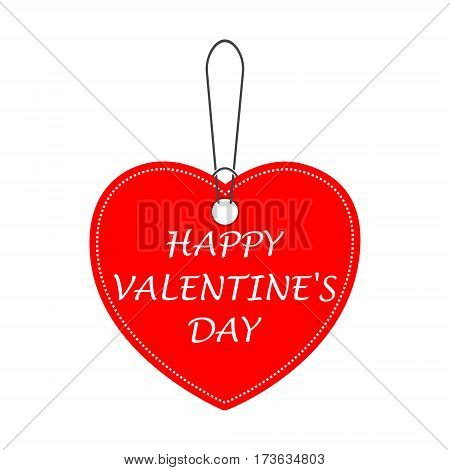 Happy Valentines day tag (bargain) vector icon