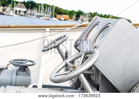 Ship anchor windlass. Braadspil on a tall ship