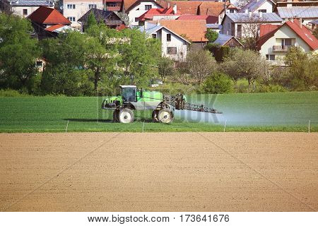 Agricultural Spring Work On Field