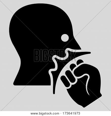Face Violence Strike vector icon. Flat black symbol. Pictogram is isolated on a light gray background. Designed for web and software interfaces.