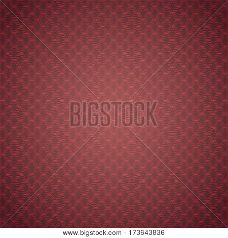 Burgundy Background with Red Rhombus Net. Vector EPS 10