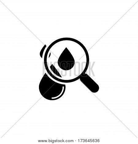 Hematology Icon. Flat Design. Isolated Illustration. Two color.
