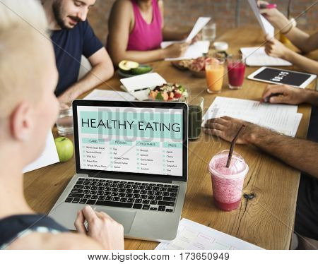 Healthy Eating Meeting Concept