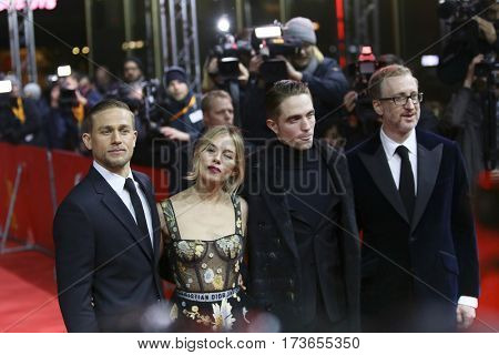 Charlie Hunnam, Sienna Miller, Robert Pattinson, James Gray attend the 'The Lost City of Z' premiere during the 67th  Film Festival Berlin at Zoo Palast on February 14, 2017 in Berlin, Germany.