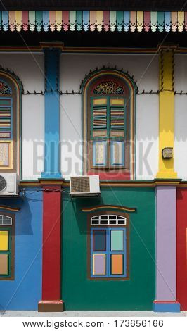 Fragment Of Colorful Building