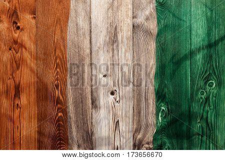 National Flag Of Ivory Coast, Wooden Background