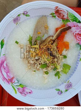 Put pork liver porridge breakfast egg isolated neighborhood if a fine for the morning.