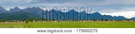 Panorama alpine valley
