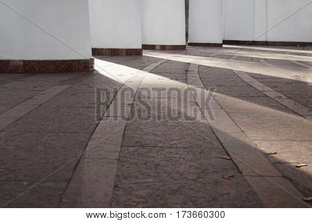 Stone floor of building in neoclassical style