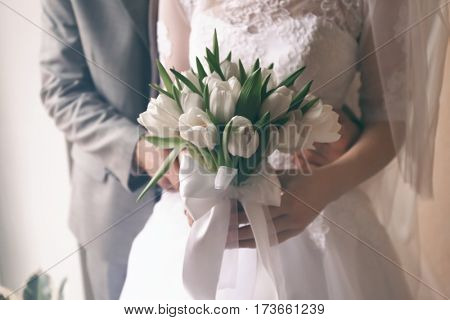 Bride and groom at their wedding day